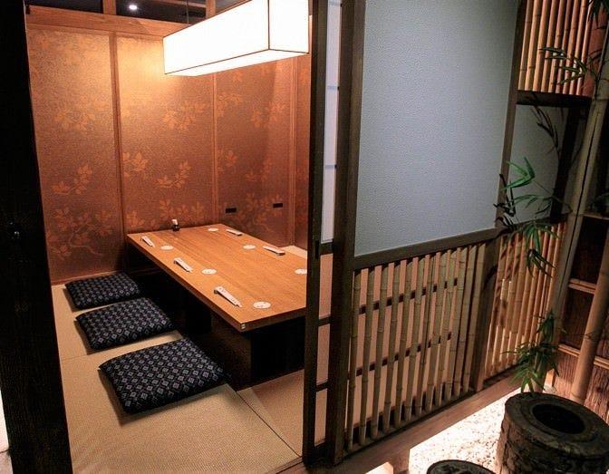 純和風で趣ある完全個室は2〜14名様