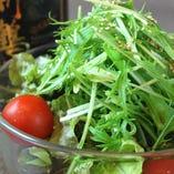 無農薬レタスのサラダ