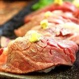 清麻呂牛シャトーブリアンの炙り寿司(4貫)