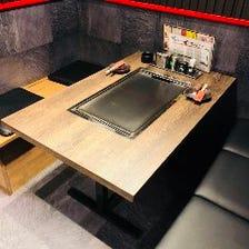 ◆テーブル席でゆったりとくつろげる