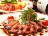 見た目も鮮やかな、新鮮素材を 使用したお料理が充実!
