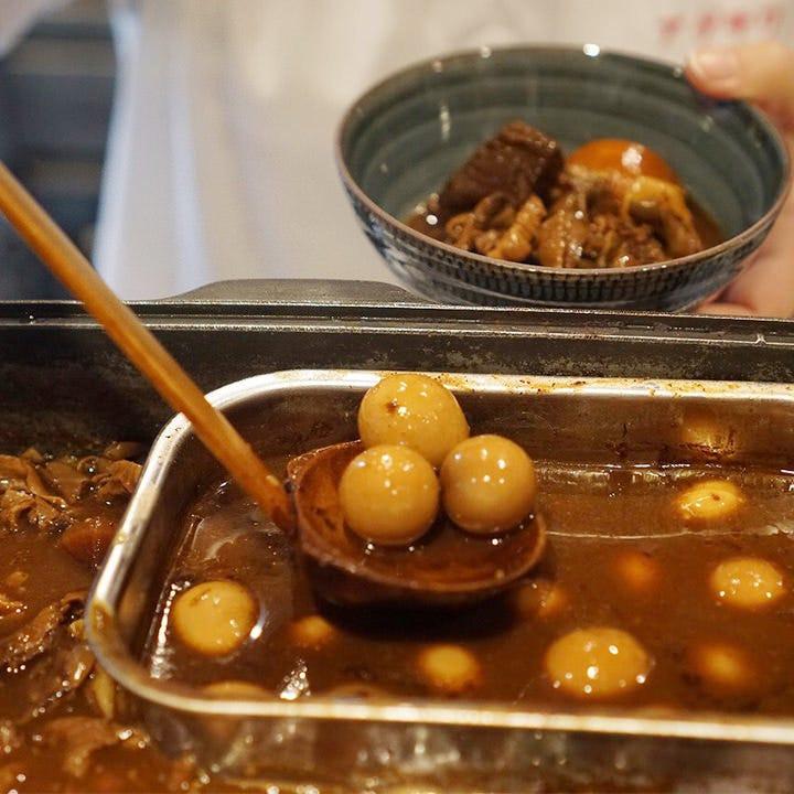 新名物「牛土手煮と牛串」旨味がのってお酒がすすむすすむ!