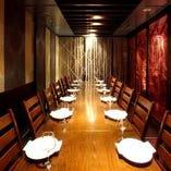【個室】10名様以上から。完全個室のプライベート空間でワインを