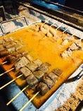 囲炉裏場で炊く土手煮