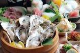 新鮮な牡蠣を使った牡蠣尽くしコースをぜひご堪能下さい♪