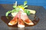 A5ランク仙台牛を使ったコースお料理