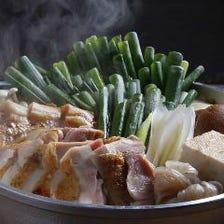 京七谷赤地鶏のすき焼き鍋