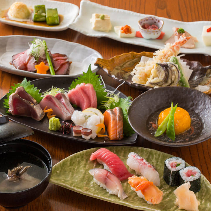 個々盛り料理の本格和食コース3,980円〜