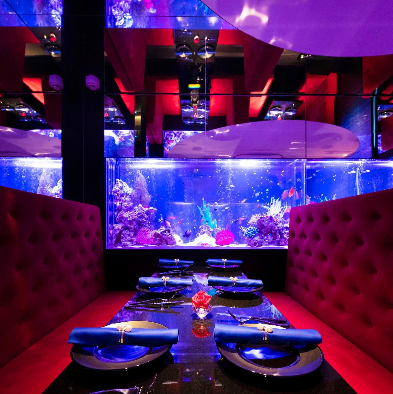 ■「深海」幻想的な空間|新宿の水面下でお食事を。