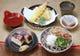 焼き鯖寿司、天ぷら、そば豆腐がつい「たけふセット」