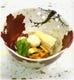 魯山人写し 雲錦透かし鉢に 炊き合わせ