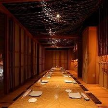 お食事のご利用は完全個室で!