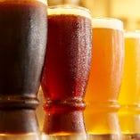 常時10種取り揃えているクラフトビール!香りが極上です♪