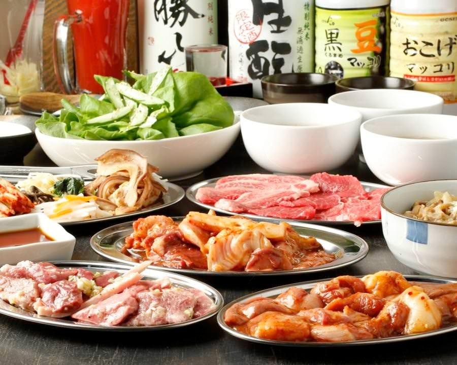 高屋敷肉店自慢の宴会コースは、飲み放題付で5,000円からご用意♪