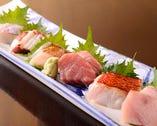 極上 活〆鮮魚のお刺身7種盛り合わせ