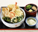 おろし天ぶっかけ(海老と野菜の天ぷら)