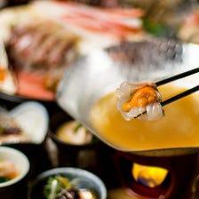 豪華海鮮料理を銘酒と共に♪