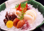 貝類盛合せ 赤貝、帆立など貝好きにはたまらない一品。