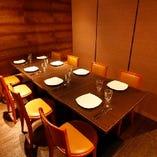 パーティなどに丁度良い大きさの個室を多数ご用意あります。
