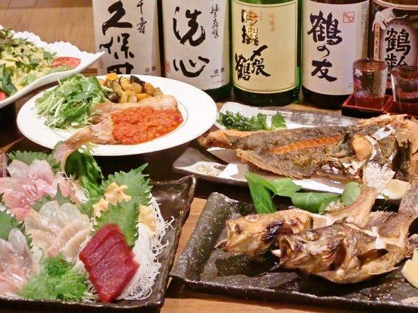 【飲み放題付きお手軽宴会4000円コース】刺身盛り,本格握り寿司等付き