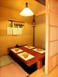 人気!落ち着いた雰囲気の個室でゆっくり食事をお楽しみ下さい。