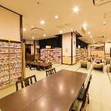 1階にある読書処には、約13,000冊以上の本をご用意
