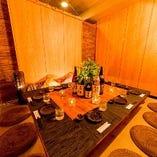 接待などに最適の和を基調とした情緒漂うお座敷タイプの個室空間