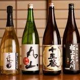 日本酒も豊富に取り揃えております。