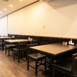 【テーブル席】ご宴会や飲み会に最適!広々楽しめるテーブル席