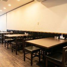 広々お食事が出来る空間!テーブル席