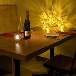 記念日などに最適なテーブル席