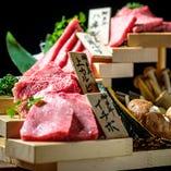 特選神戸牛セット。希少部位4種と野菜で1人前3550円(税抜)!