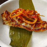 ★「カンナ三段バラ」の美味しい焼き方★【食べ方2】行者ニンニクと!!ヘルシーな韓国直輸入の行者ニンニクに包んで。イチオシです!