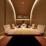 【8~12名様】全席完全個室のおもてなし、四季折々の日本料理。ご接待、お祝いに