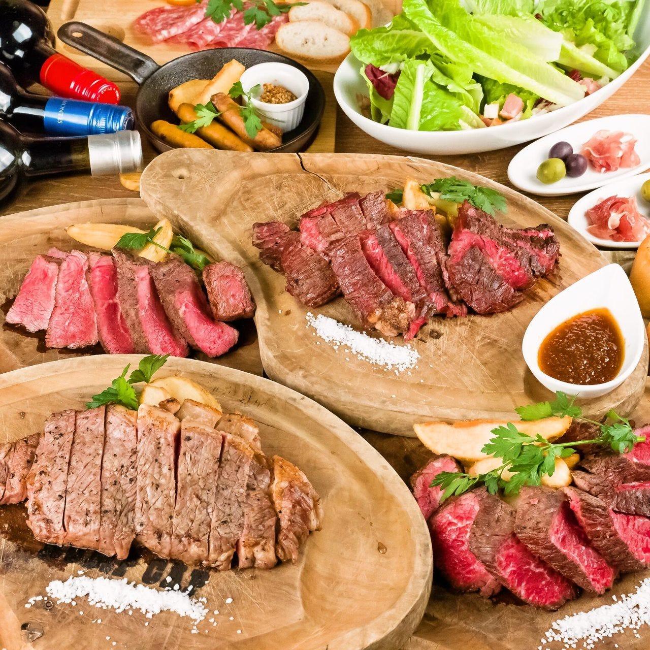 全日OK!☆2時間飲み放題付き【新★RUMP CAP 肉MANコース】お料理7品 5000円