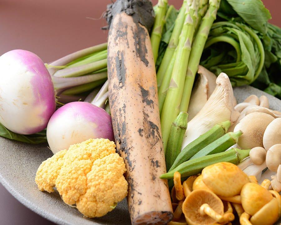 ■新鮮な旬の野菜を楽しむ