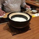 【 ご飯 】小滝米の土鍋ご飯
