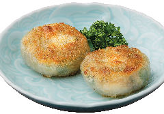 -香煎韮菜餅-海老とニラ入り焼きお餅