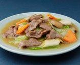 時菜炒牛肉-牛肉と野菜の炒め