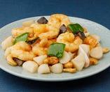 腰菓炒蝦仁-海老とカシューナッツの炒め