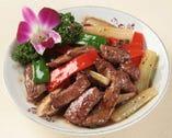黒椒和牛柳-黒毛和牛と彩り野菜の黒胡椒炒め