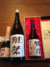 店主お勧めの日本酒のラインナップ