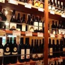 店内中央にあるワインセラー!