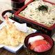 天ざるうどんと寿司セット