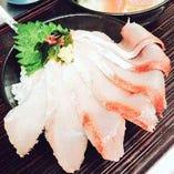 【鮮度抜群!】 店主が自ら仕入れる鮮魚はぷりっぷりで美味♪