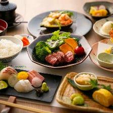 【昼の部】神戸牛ステーキ付き!昼の会食や晴れの日使いに♪全8品 6,000円コース(税込)