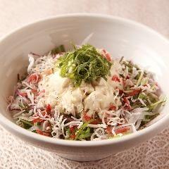 京豆腐と水菜のサラダ