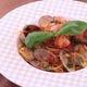 あさりがぷりぷり!!完熟トマトとバジルのボンゴレロッソ