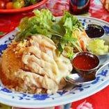 海南鶏飯 蒸し鶏のせごはん
