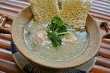 オコゲの海鮮あんかけスープ